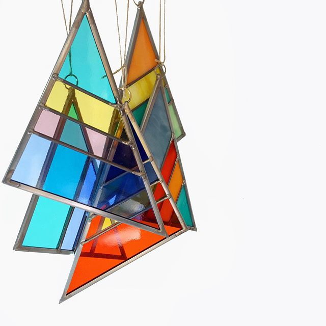 Debbie Bean Stained Glass Triangles